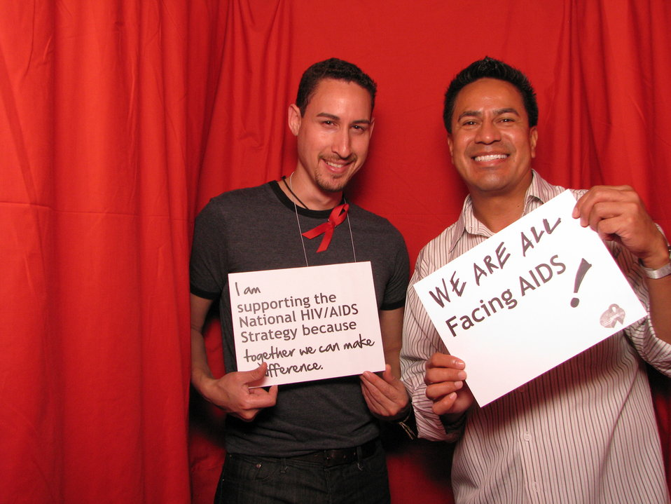 WE ARE ALL FACING AIDS! I am supporting the National HIV/AIDS Strategy because together we can make a difference.