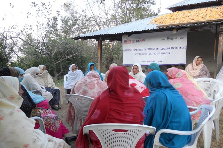 Caption 18 - READ Foundation - AJK RWLKT - Meeting Community for Education