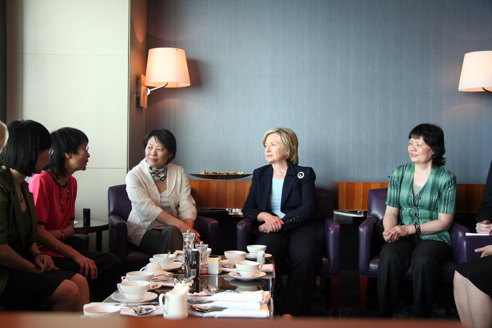 Secretary Clinton Meets With Chinese Women Civil Society Leaders