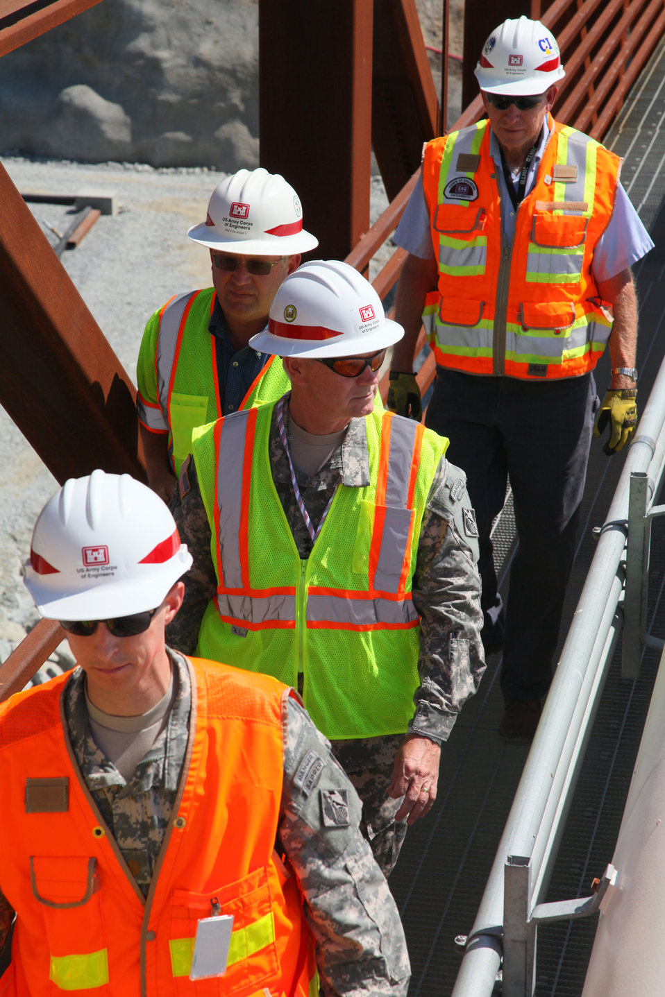 Maj. Gen. Michael Walsh tours Folsom Dam auxiliary spillway