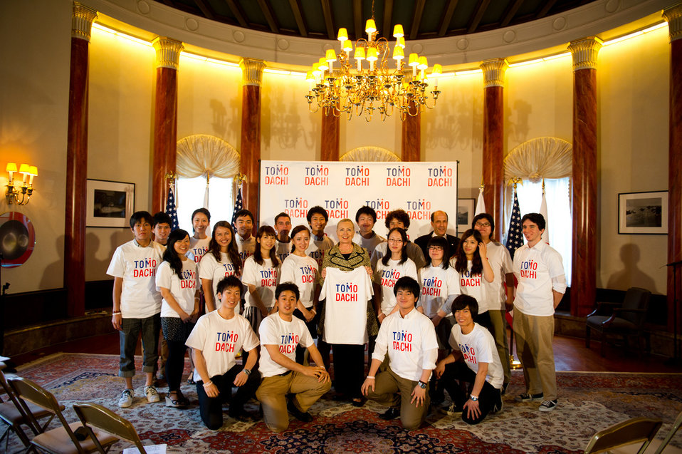 Secretary Clinton With Japanese Youth