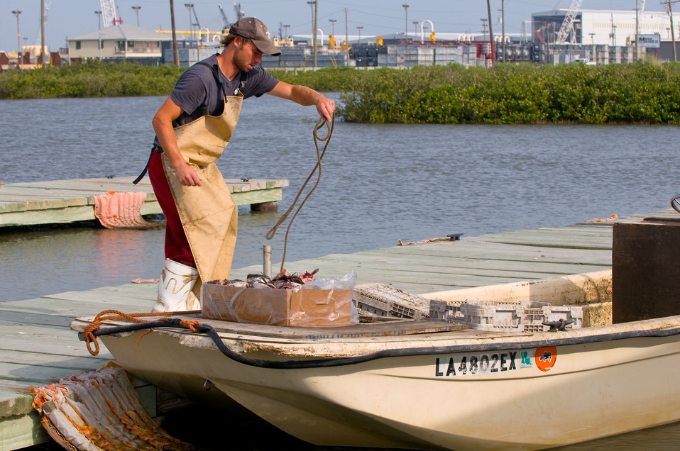 May 14, Cody Fonseca, Lafourche, La sets out for a day of crabbing
