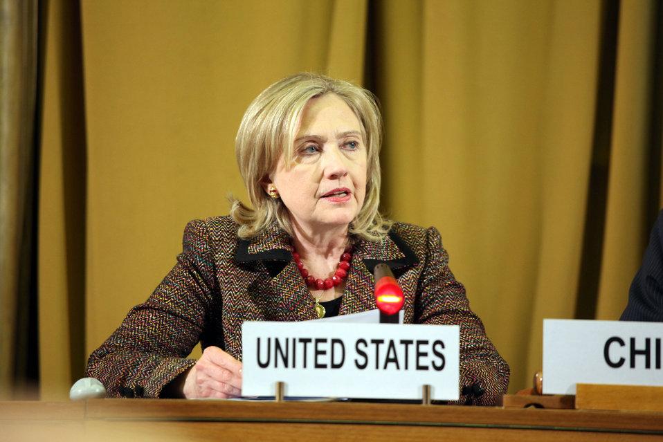 Secretary Clinton Participates in the Conference on Disarmament