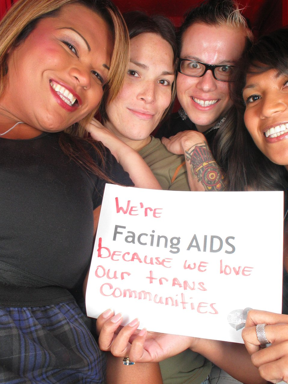 We're Facing AIDS because we love our trans communities