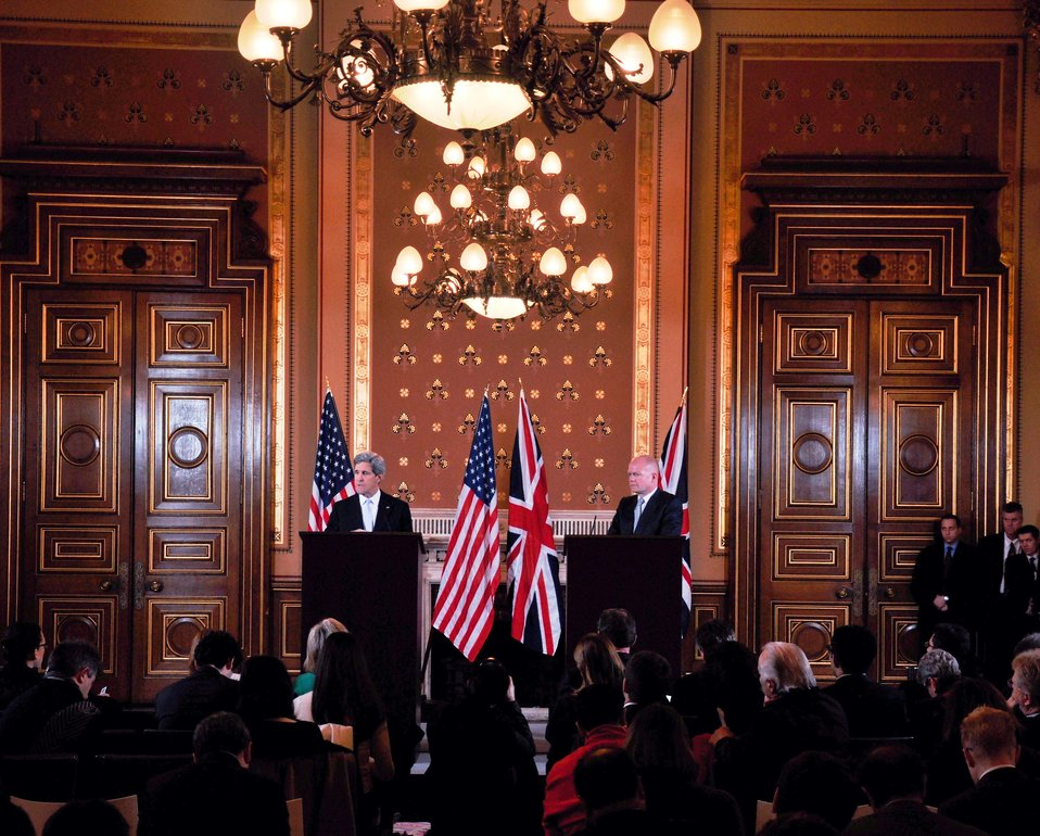 Secretary Kerry and UK Foreign Secretary Hague Address Reporters