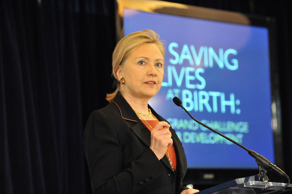 Secretary Clinton Delivers Remarks on Maternal and Child Health