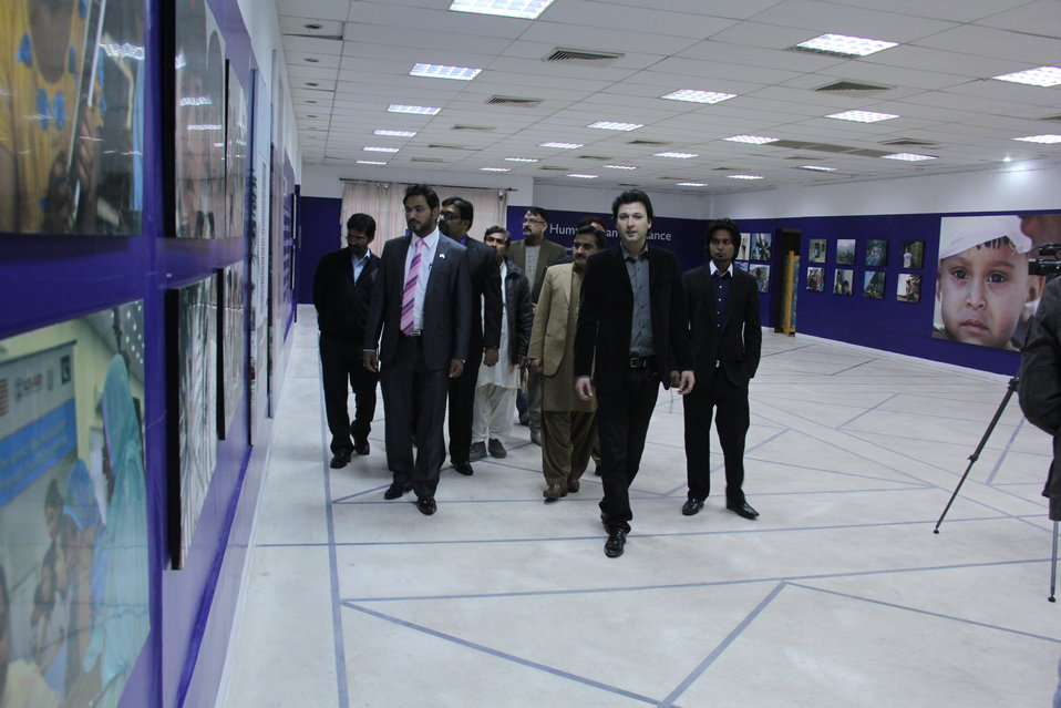 The exhibition featured images from various US Pakistan Projects.