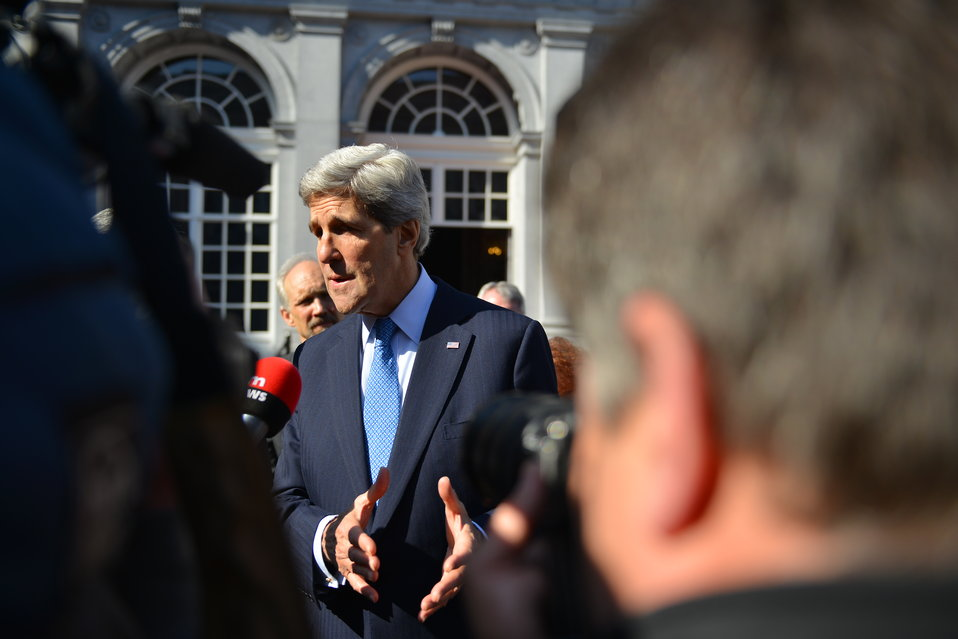 Secretary Kerry Takes Questions From Belgian TV