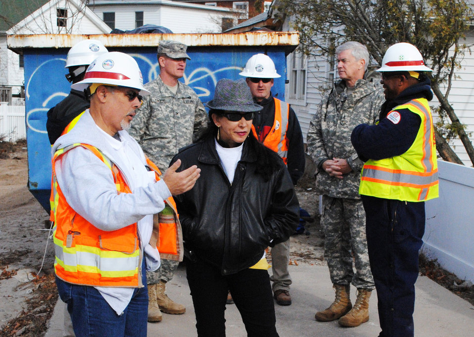 Fred Strickland helps with Sandy debris removal in New York