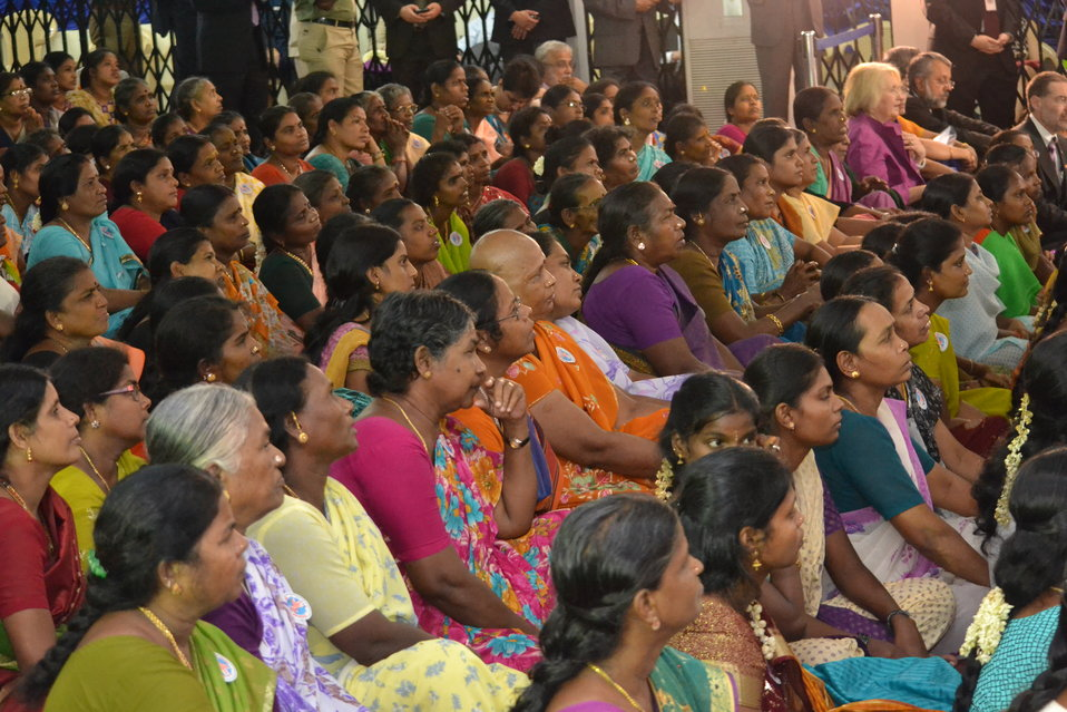South Indian Women Listen to Secretary Clinton