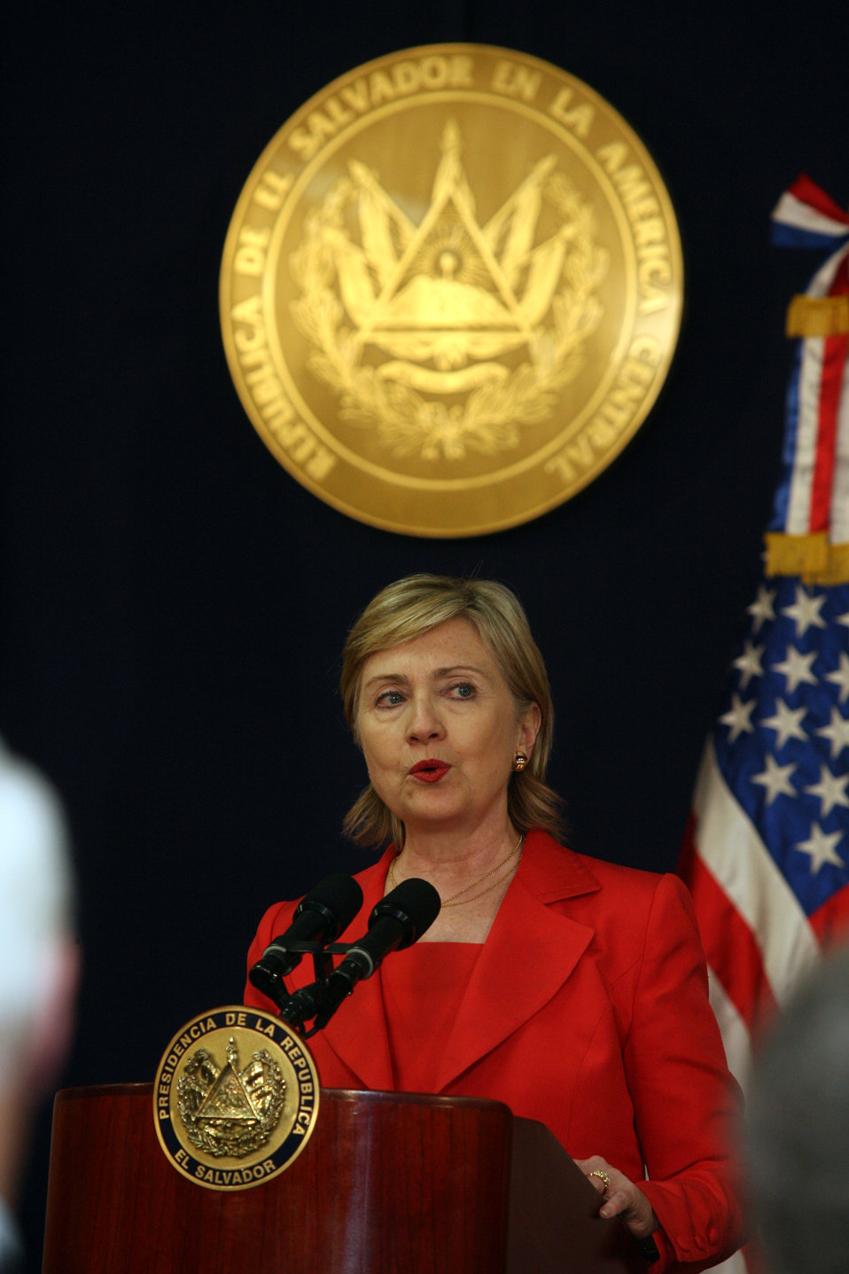 Joint Press Conference in El Salvador With Secretary Clinton and Salvadoran President
