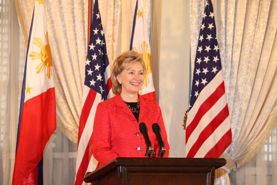 Secretary Clinton Speaks at a Forum