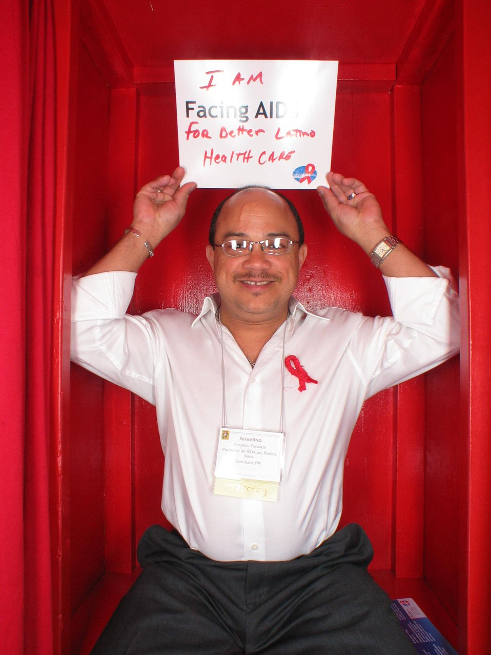 I am Facing AIDS for better Latino Health Care.