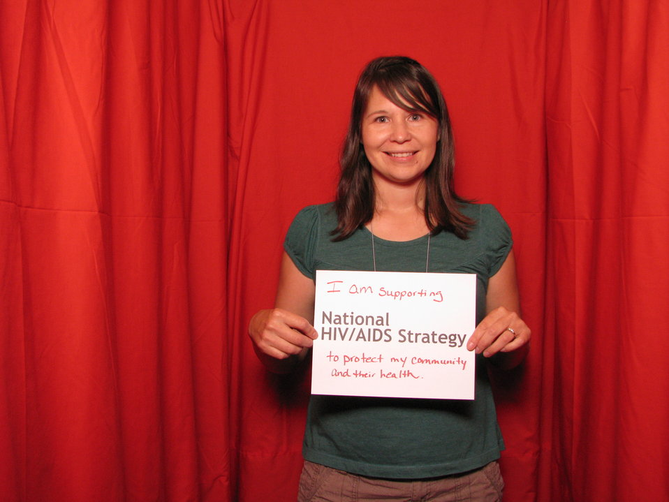 I am supporting the National HIV/AIDS Strategy to protect my community and their health