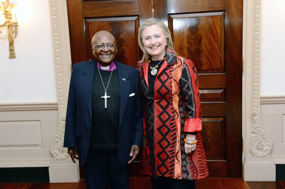 Secretary Clinton Meets With Archbishop Tutu