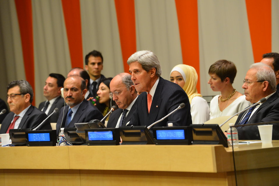 Secretary Kerry Attends the Friends of the Syrian People Ministerial