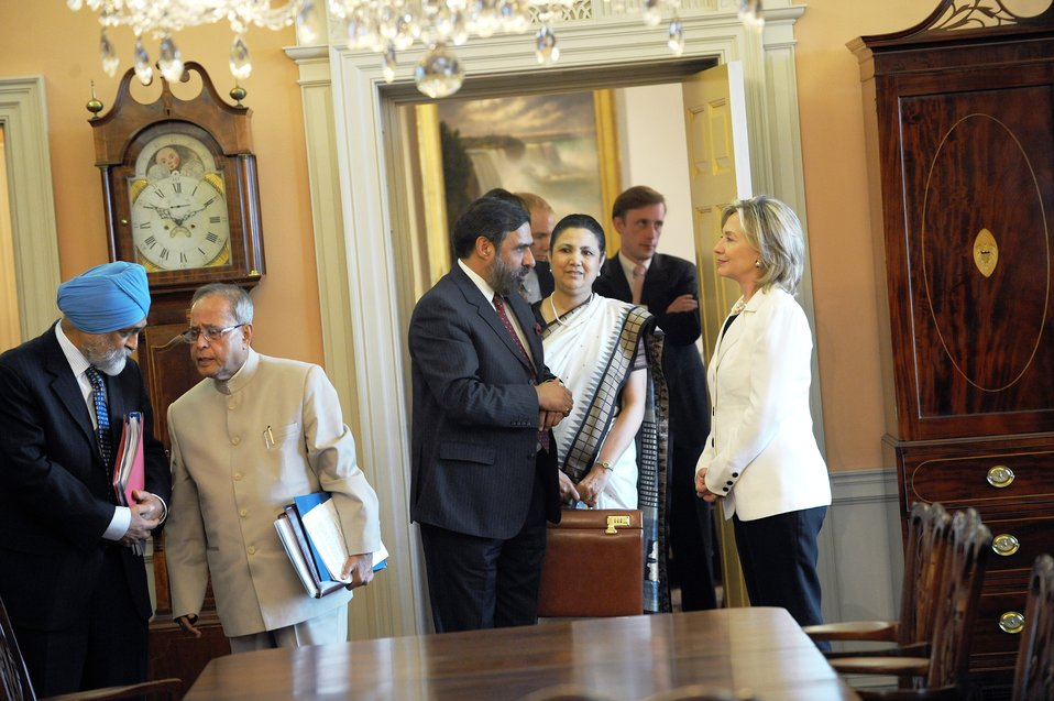Secretary Clinton Meets With Indian Commerce Minister Anand Sharma
