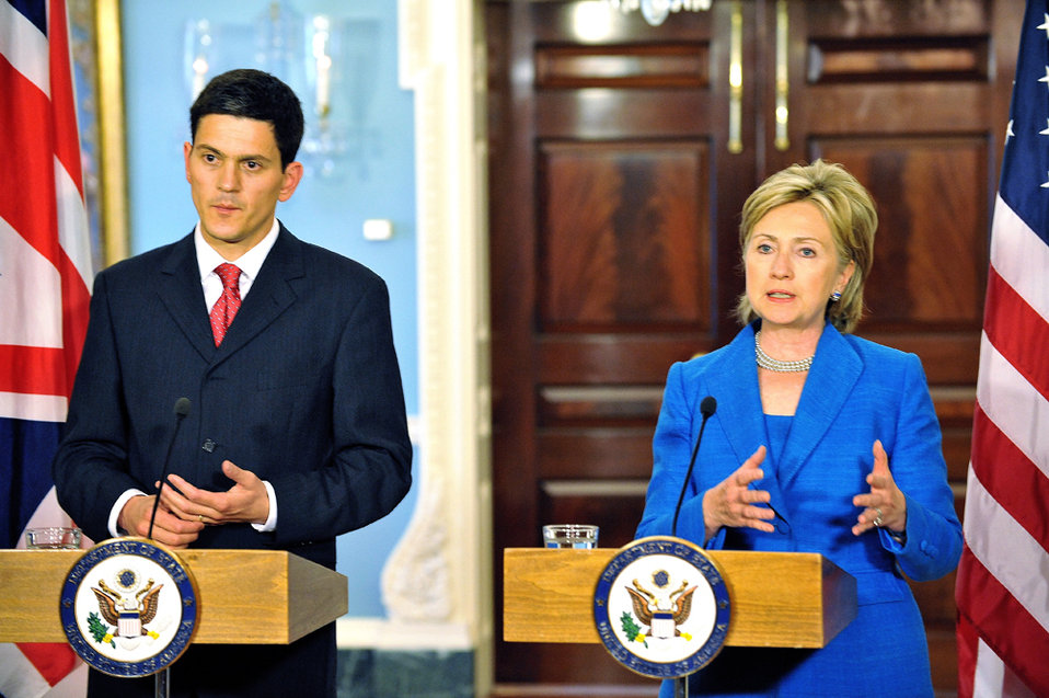 Secretary Clinton Meets With U.K. Foreign Minister