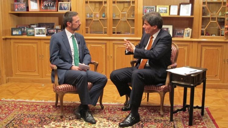 Assistant Secretary Fernandez Is Interviewed by Business TV's Javier Ablitas