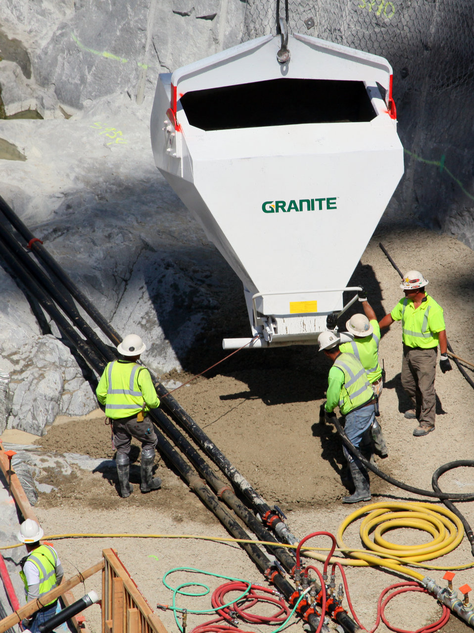 First concrete placed for new Folsom Dam spillway