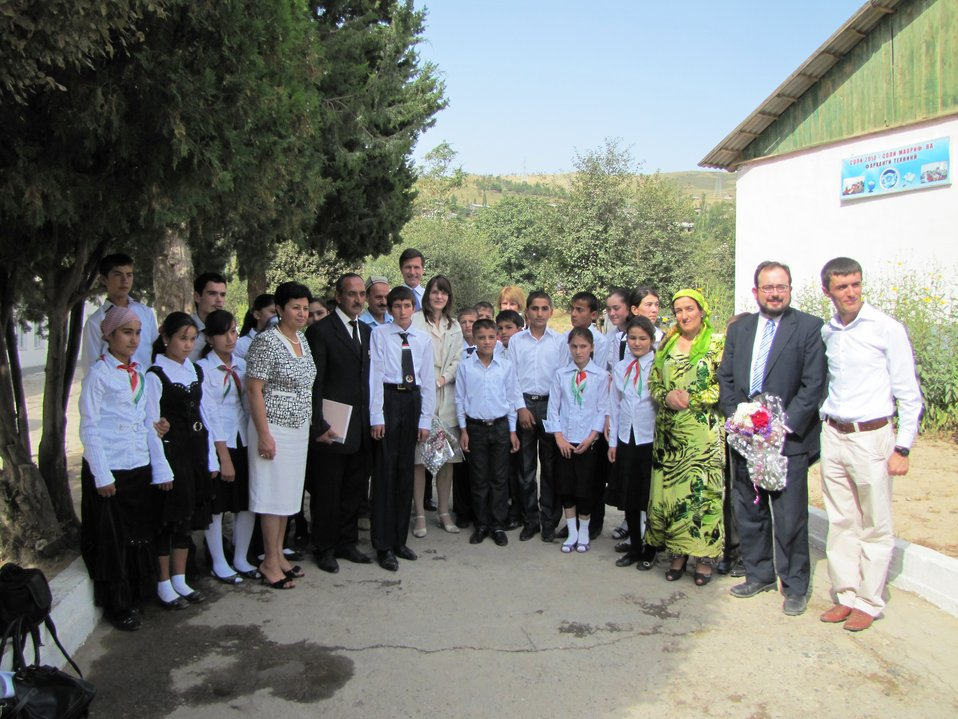 Assistant Secretary Blake Commemorates the First Day of School in Tajikistan