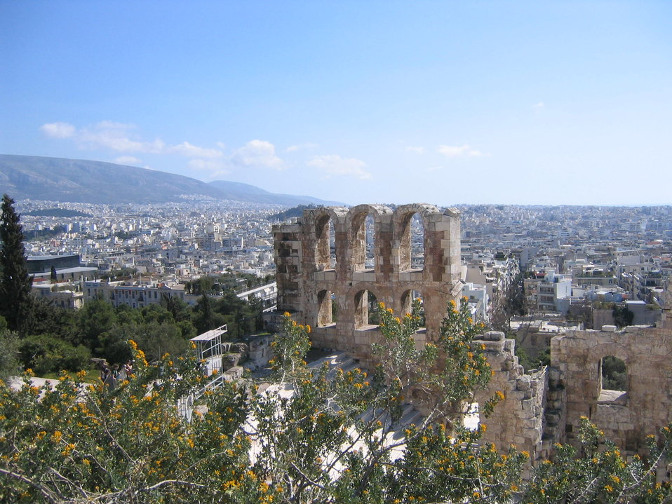 Uploaded by request of Mary J. Leou  Taken in Athens Greece, March 16, 2008  Springtime in Athens - taken as part of an NYU Travel Collo