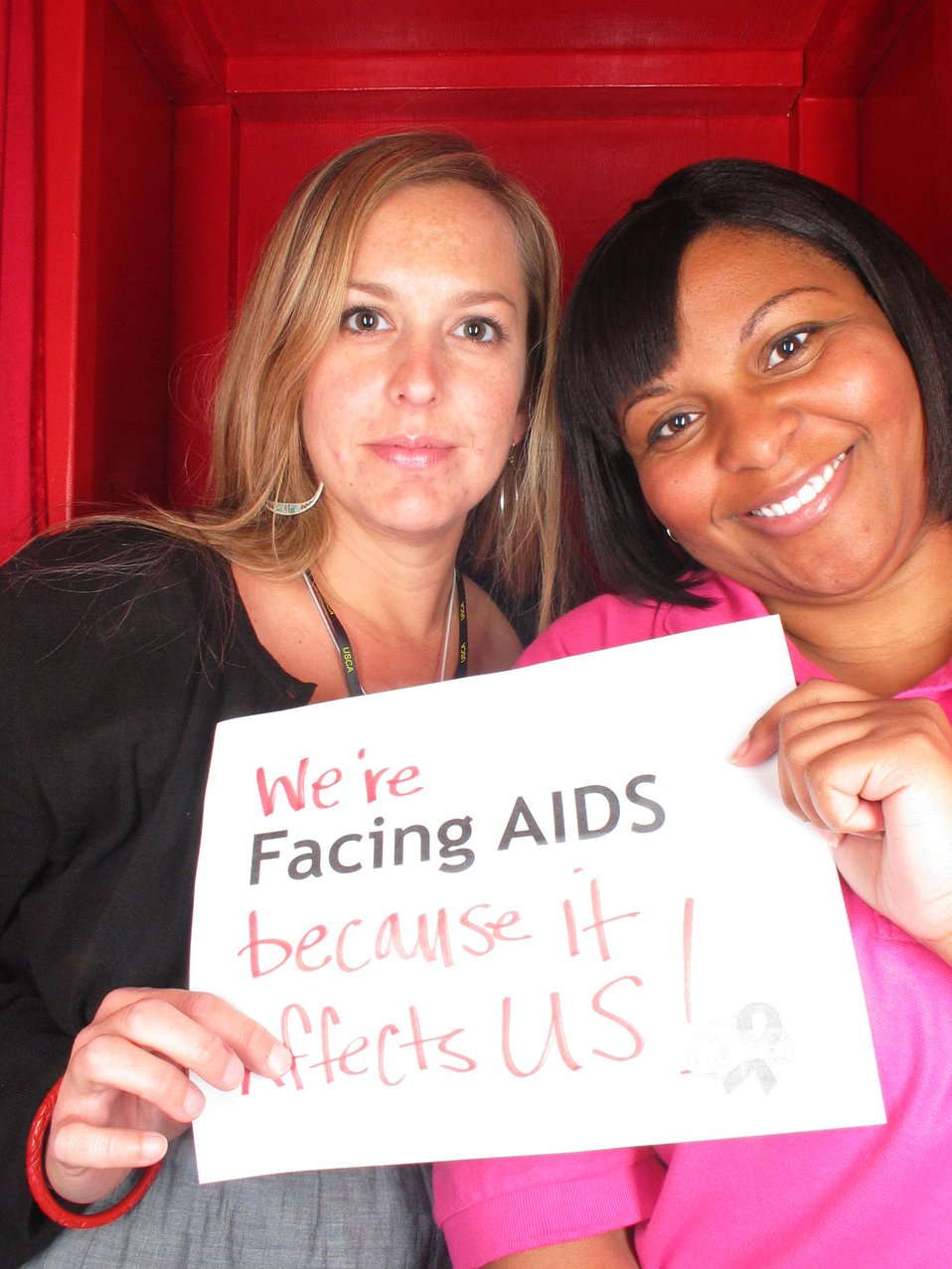 We're Facing AIDS because it affects US!