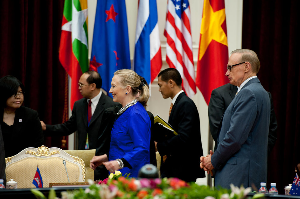 Secretary Clinton Participates in the Friends of Lower Mekong Ministerial Meeting