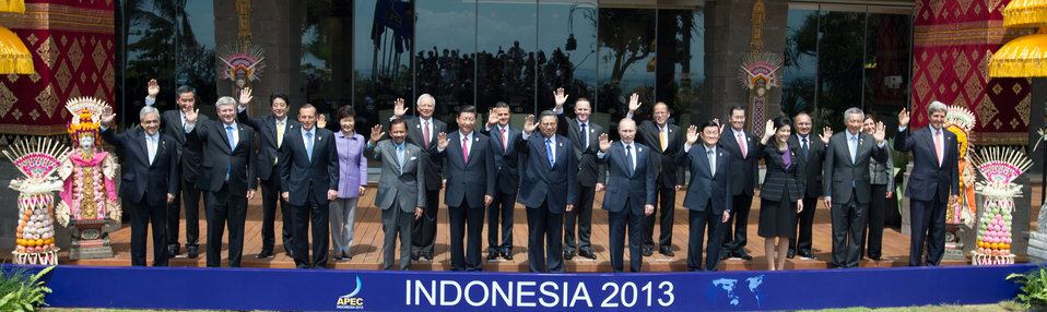 Secretary Kerry Poses for a APEC Family Photo
