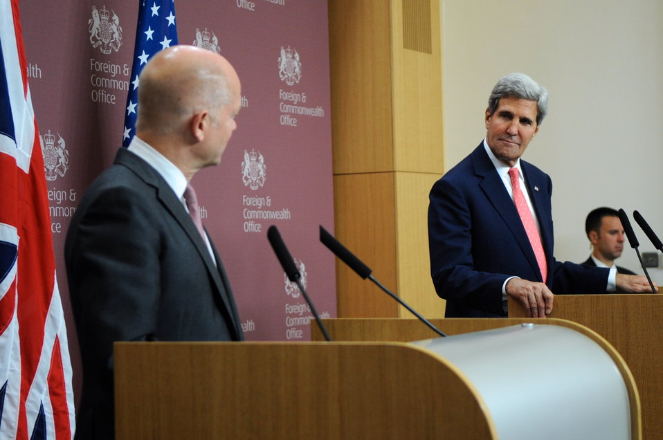 Secretary Kerry Delivers Remarks With British Foreign Secretary Hague