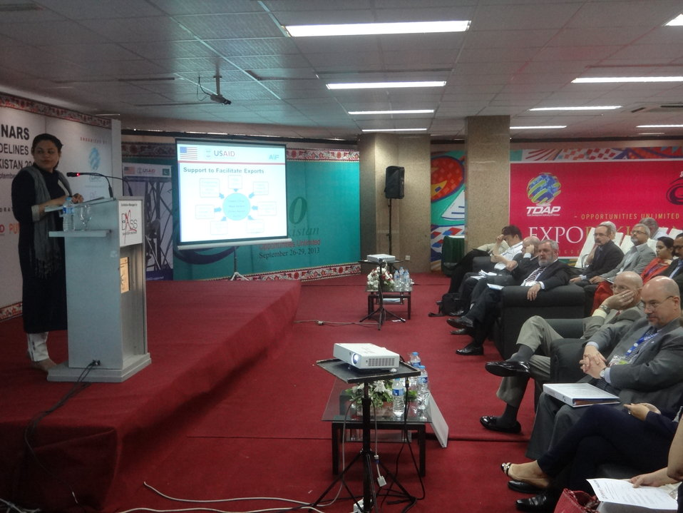 The Agribusiness Project, Presentation at Conference, TDAP Expo, Karachi, September 27, 2013 (13)