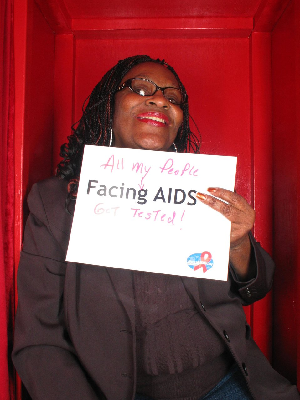 All my people Facing AIDS Get tested!