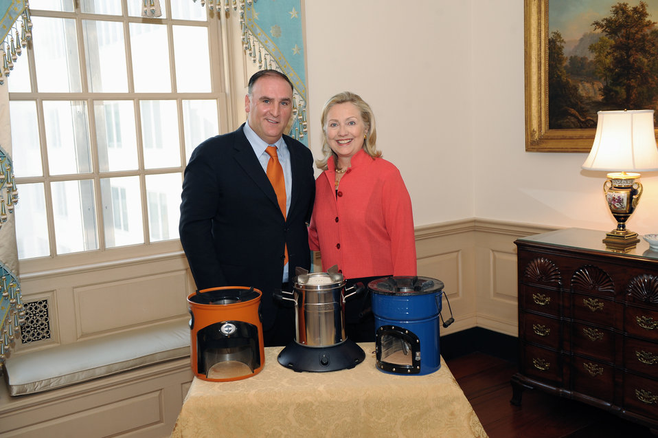 Secretary Clinton Meets With Chef Jose Andres