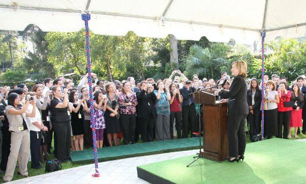 Secretary Clinton at U.S. Embassy Guatemala