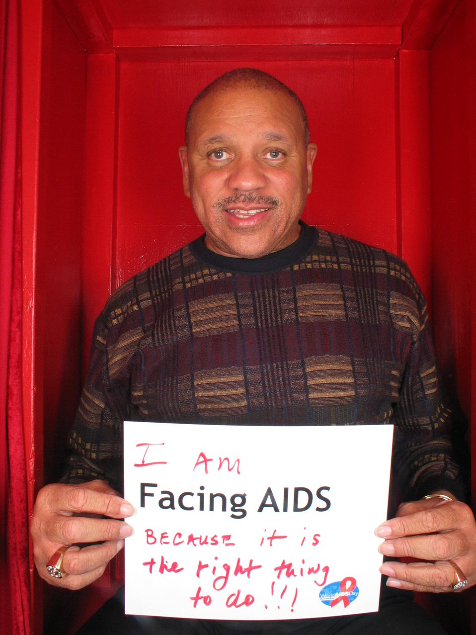 I am Facing AIDS because it is the right thing to do.