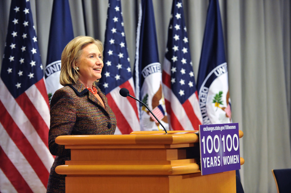 "Secretary Clinton Launches the ""100 Women Initiative: Empowering Women and Girls through International Exchanges'"