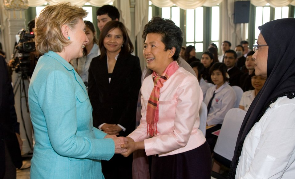 Secretary Clinton at Phyathai Palace