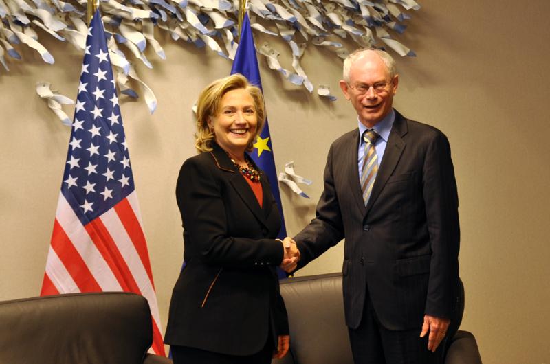 Secretary Clinton Meets With European Council President Herman Van Rompuy