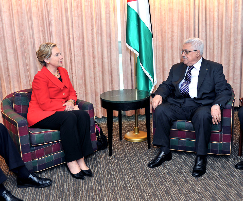 Secretary Clinton Holds a Bilateral With Palestinian President Abbas