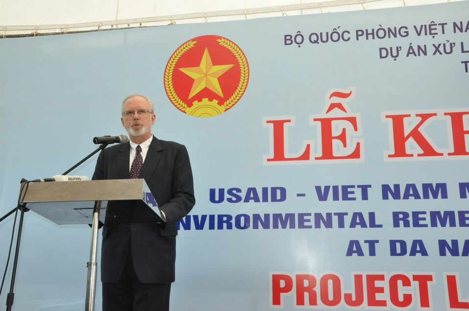 U.S. Ambassador David B. Shear speaks at the Environmental Remediation of Dioxin Contamination at Danang Airport Project Launch