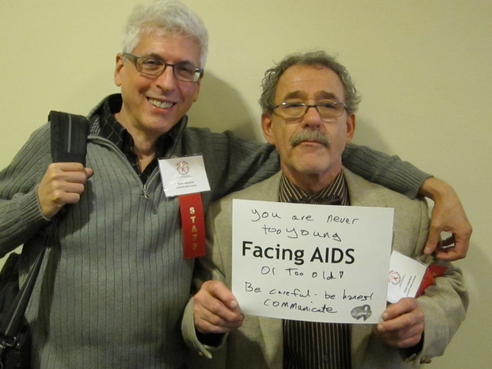 You are never too young  - Facing AIDS - or too old! Be careful. Be honest. Communicate.