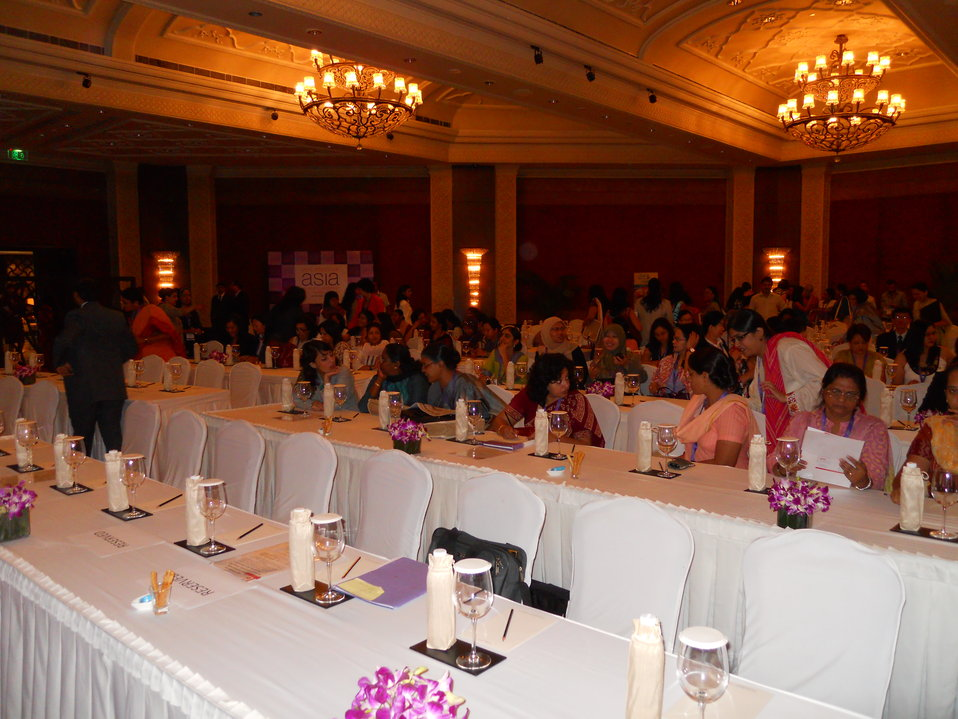 Summit Participants Chat at the Opening of the Vital Voices Women's Empowerment Summit