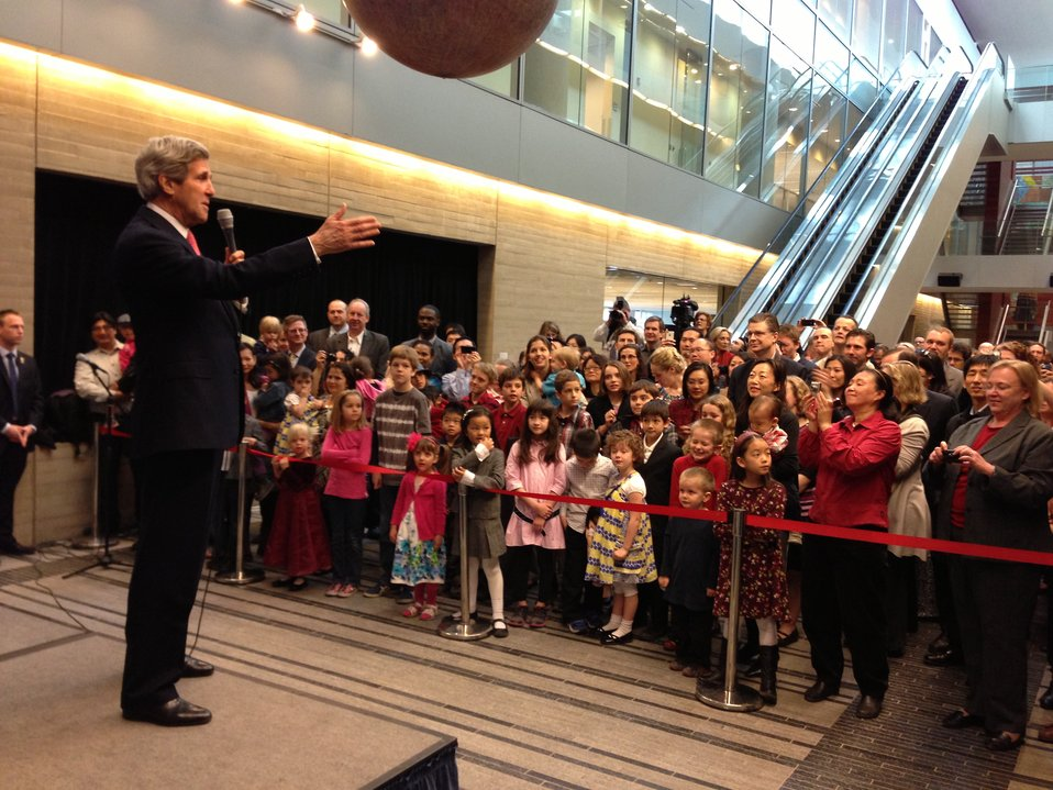 Secretary Kerry Addresses Staff at the U.S. Embassy in Beijing