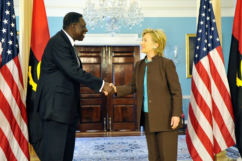 Secretary Clinton Meets With Angolan Minister of External Affairs