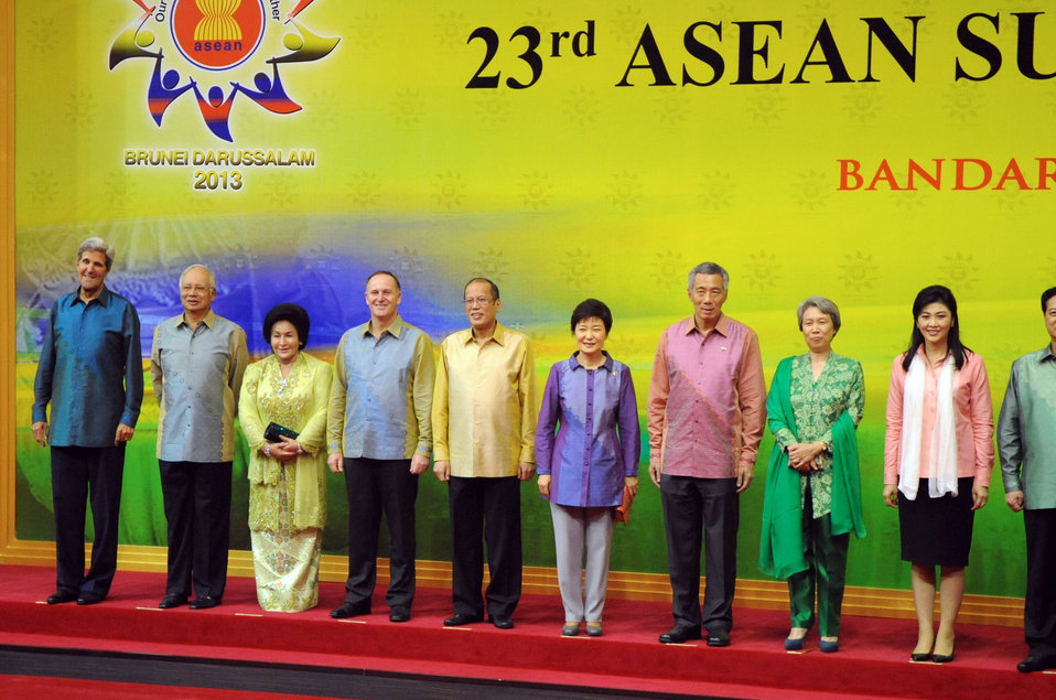 Secretary Kerry Poses With ASEAN Leaders