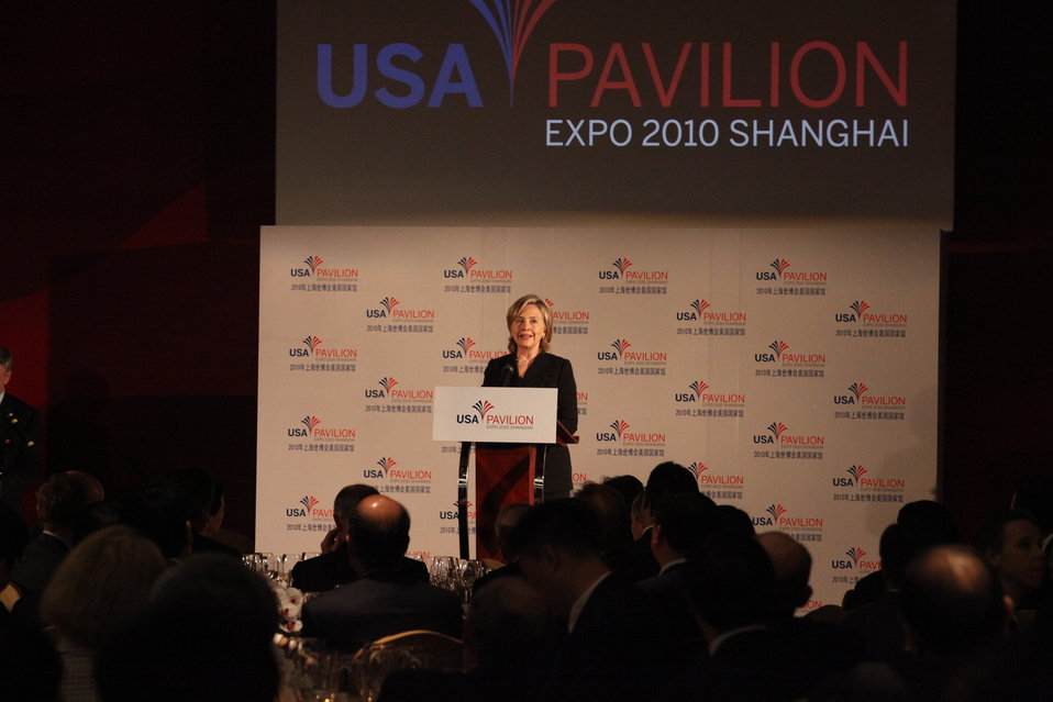 Secretary Clinton Speaks at the USA Pavilion