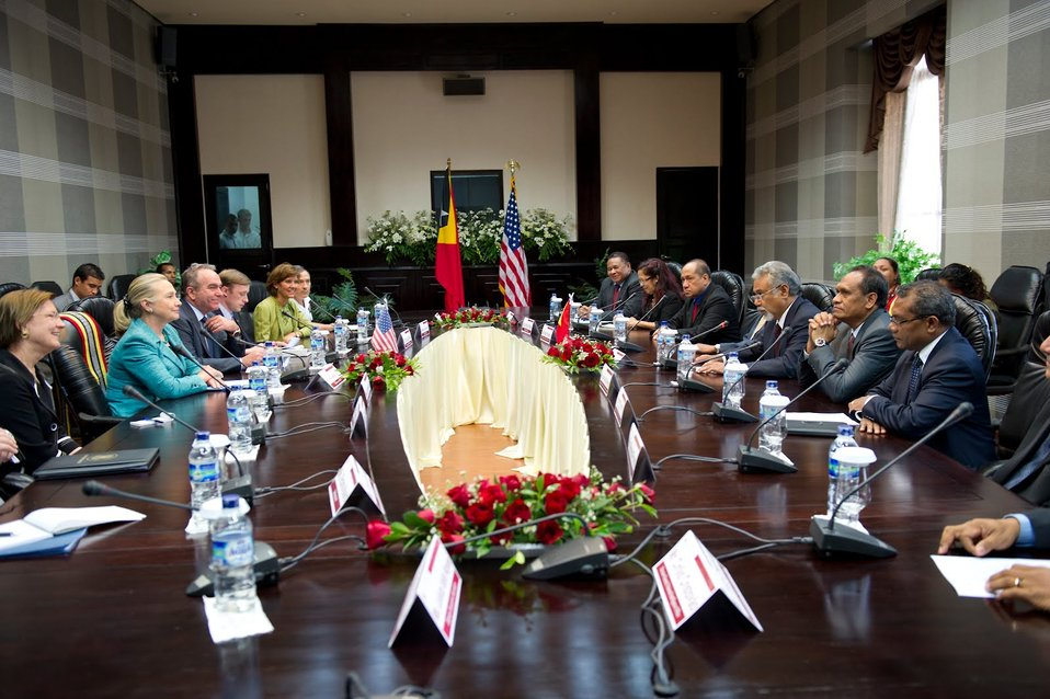 Secretary Clinton Meets With Timor-Leste's Prime Minister Gusmao