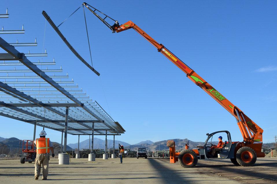 Solar project at Fort Hunter Liggett