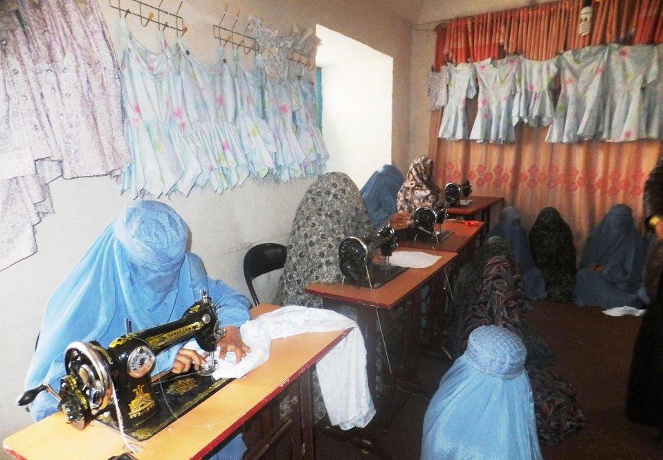 20 local women practice tailoring skills in Rawandan village in Pashtun Zarghun District