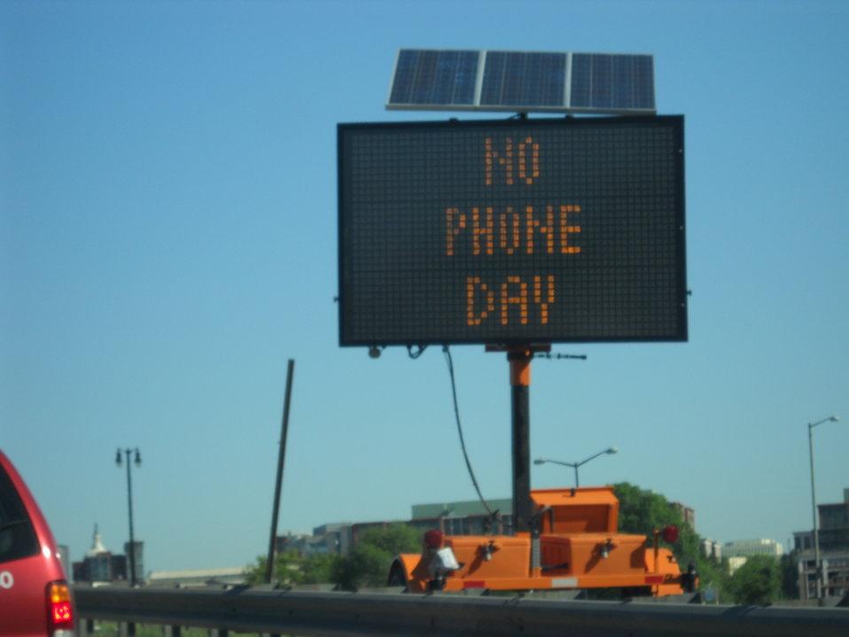 National No Phone Zone Day Newsum Washington, DC April 30, 2010 001